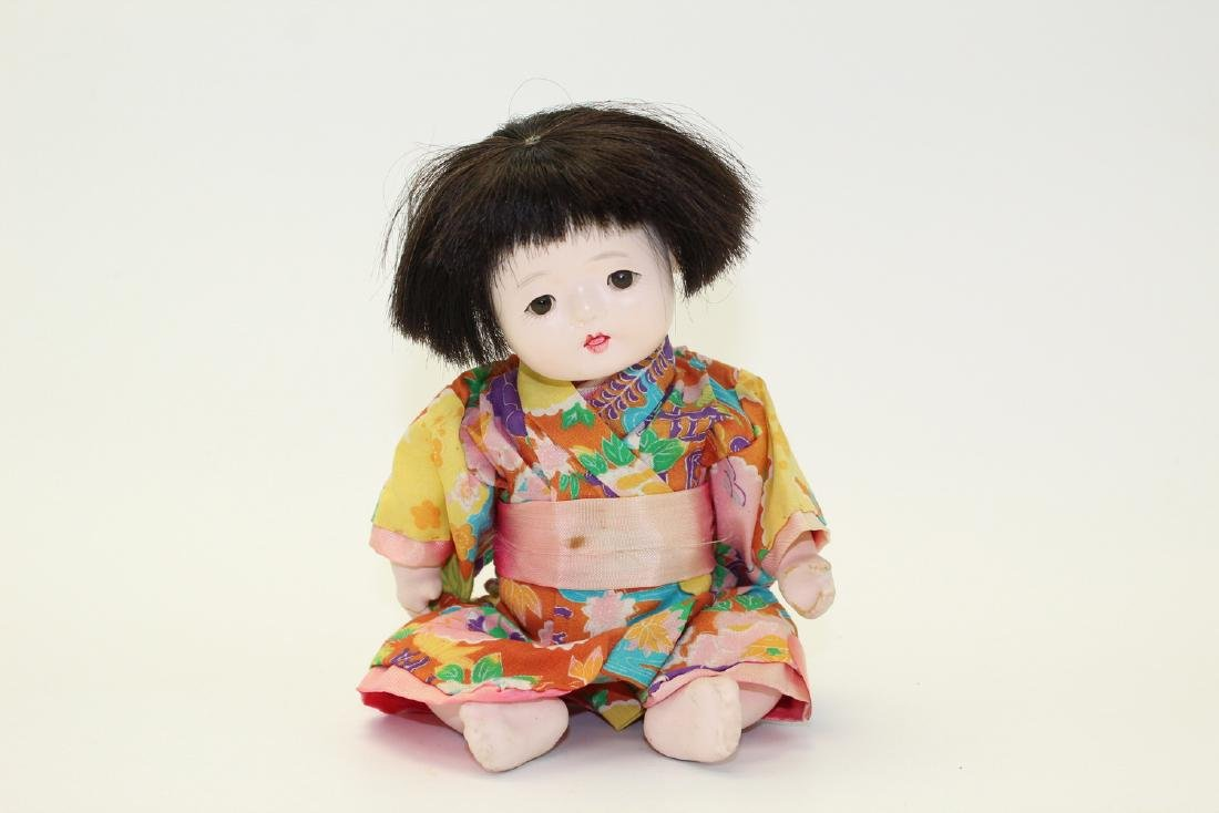 Vintage Japanese Clay Doll