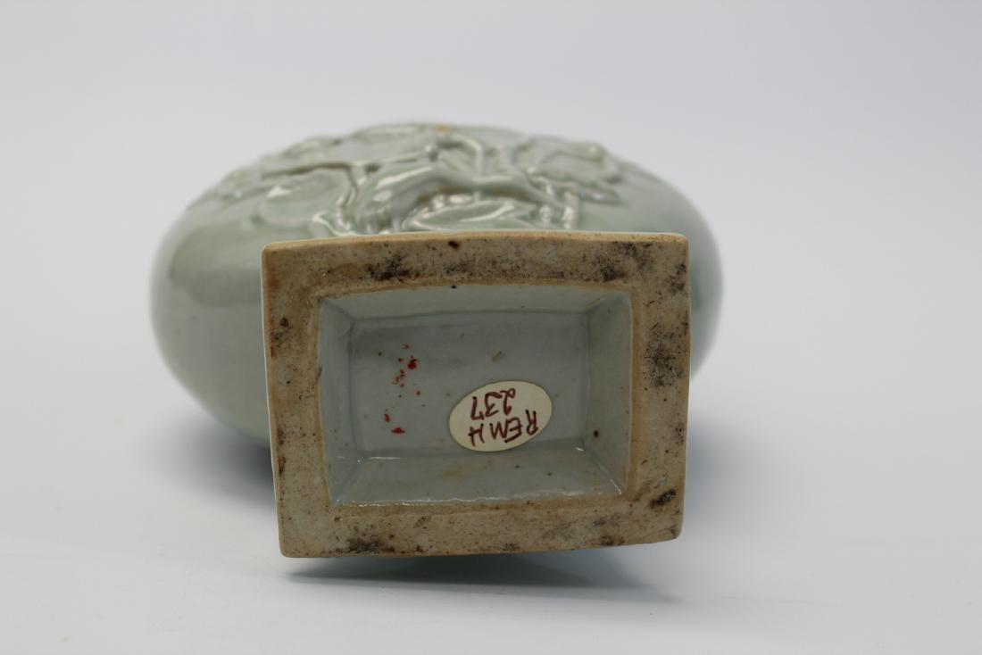 Chinese Celadon Glaze Porcelain Vase - 3
