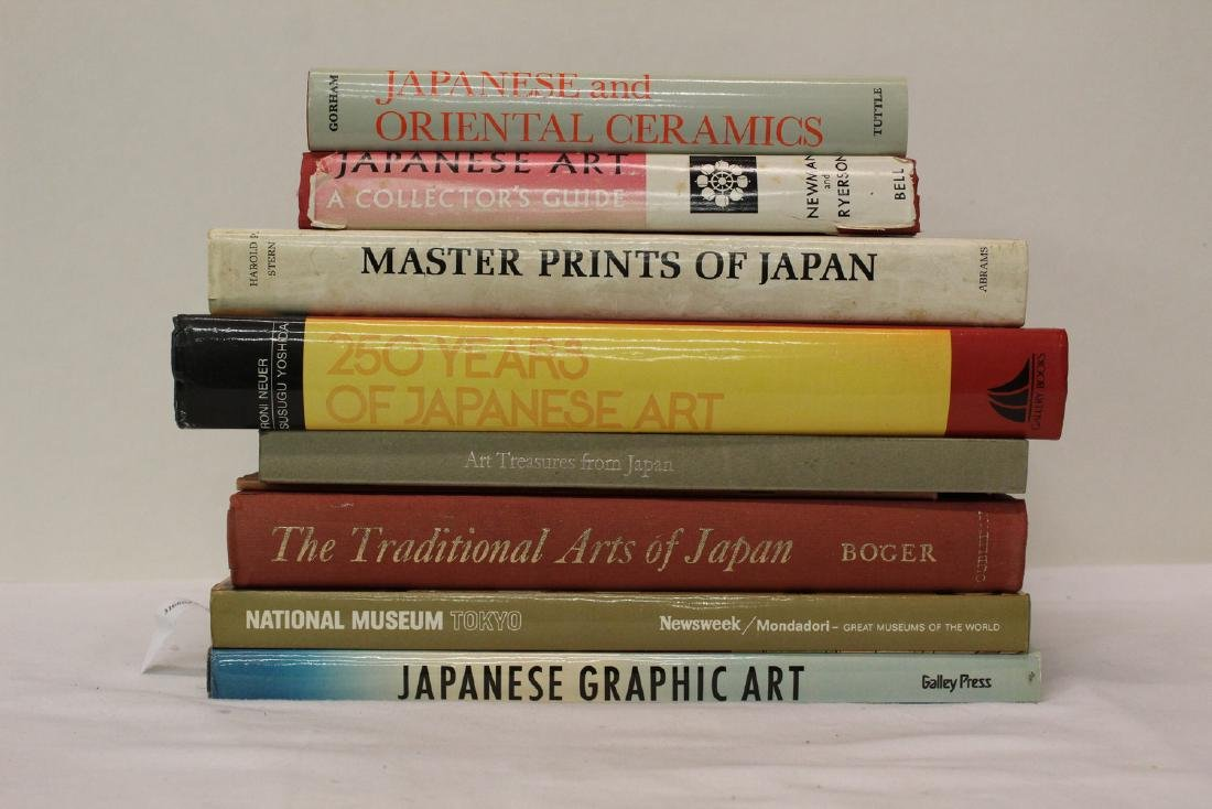 Group of Japanese art and museum reference books. (