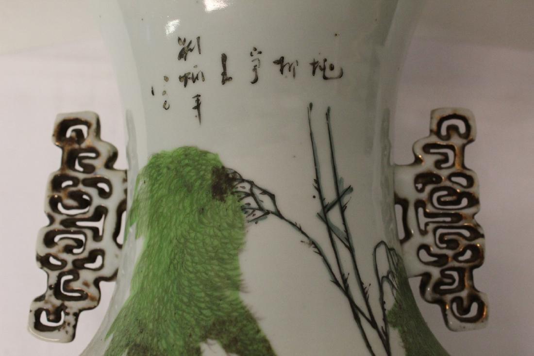 Chinese famille rose porcelain vase. Republic period. - 5