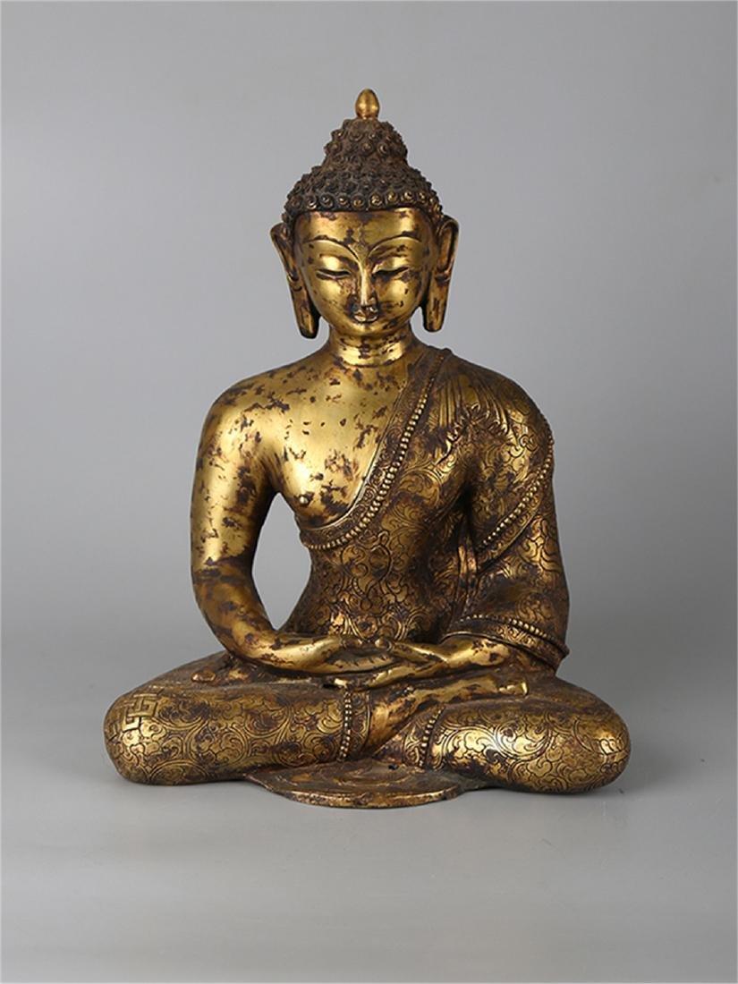 Chinese bronze figure of a Buddha.