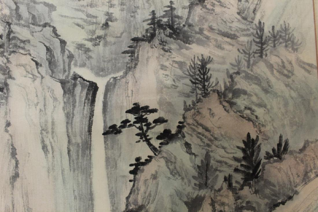 Chinese Watercolor and Ink Painting Scroll on silk. - 5