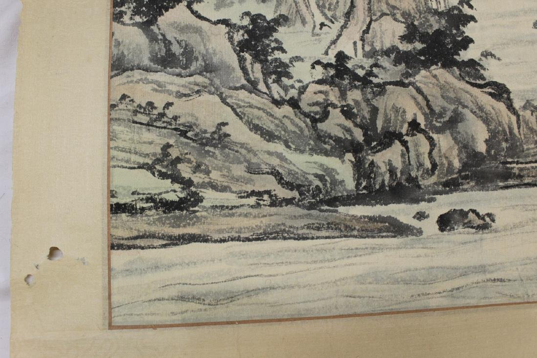 Chinese Watercolor and Ink Painting Scroll on silk. - 7