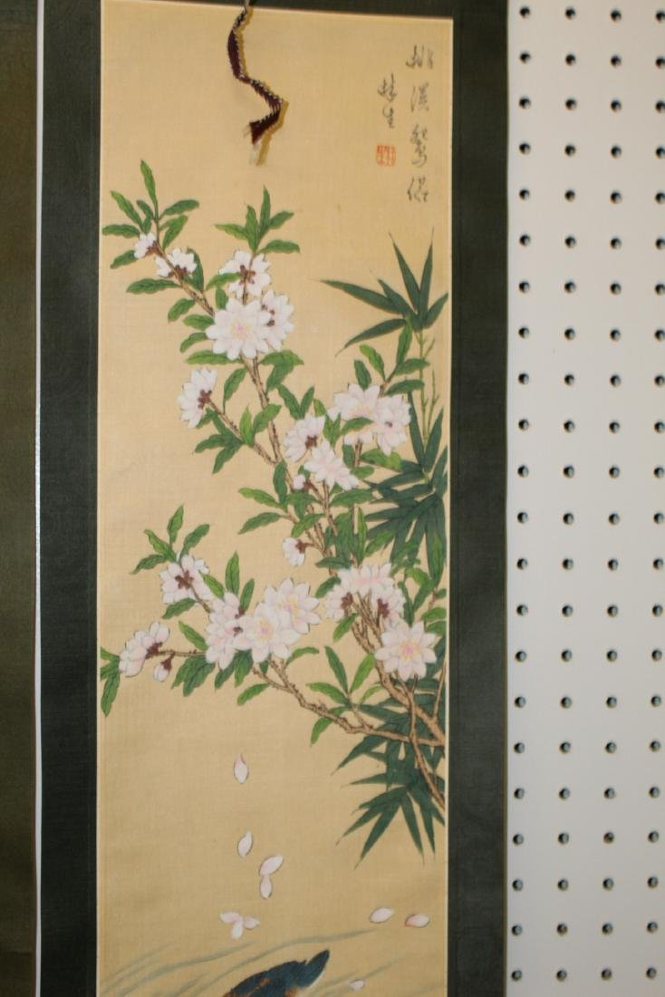Two Chinese scroll painting on silk . - 2