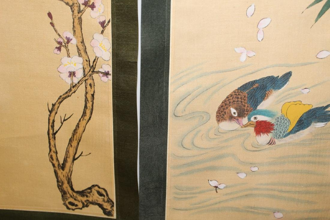 Two Chinese scroll painting on silk . - 4