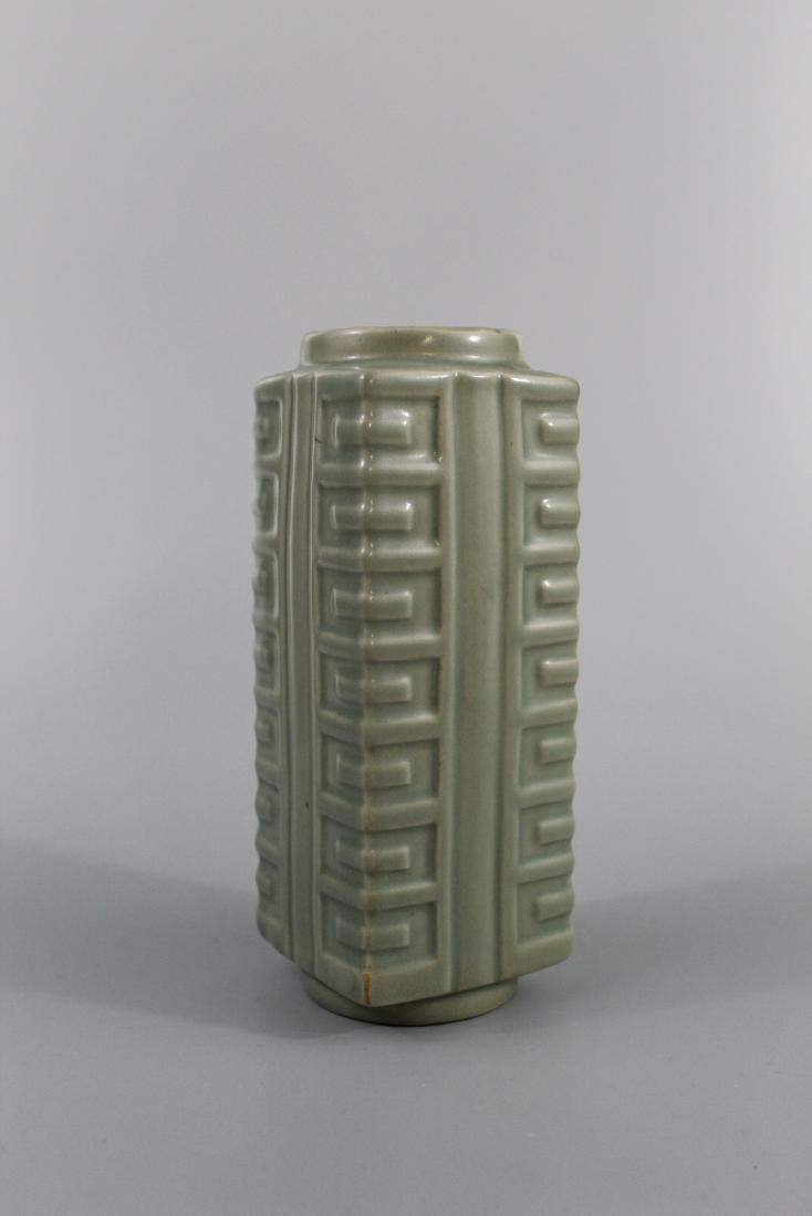 Chinese celadon glazed porcelain Vase.