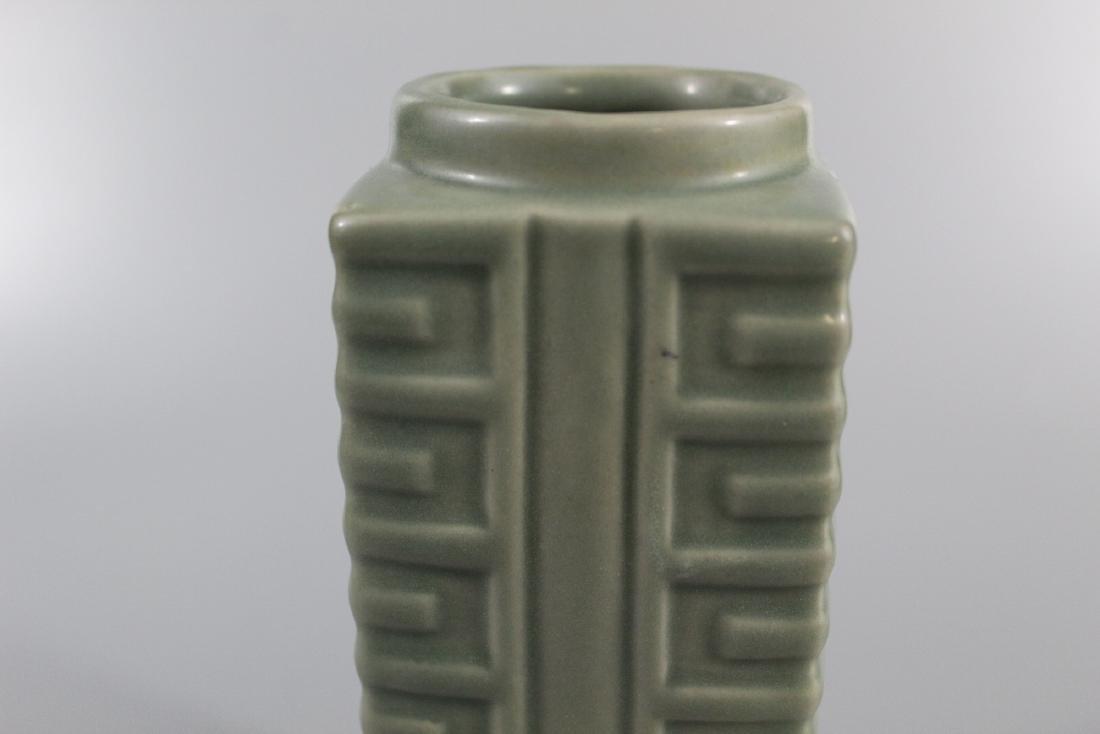 Chinese celadon glazed porcelain Vase. - 2