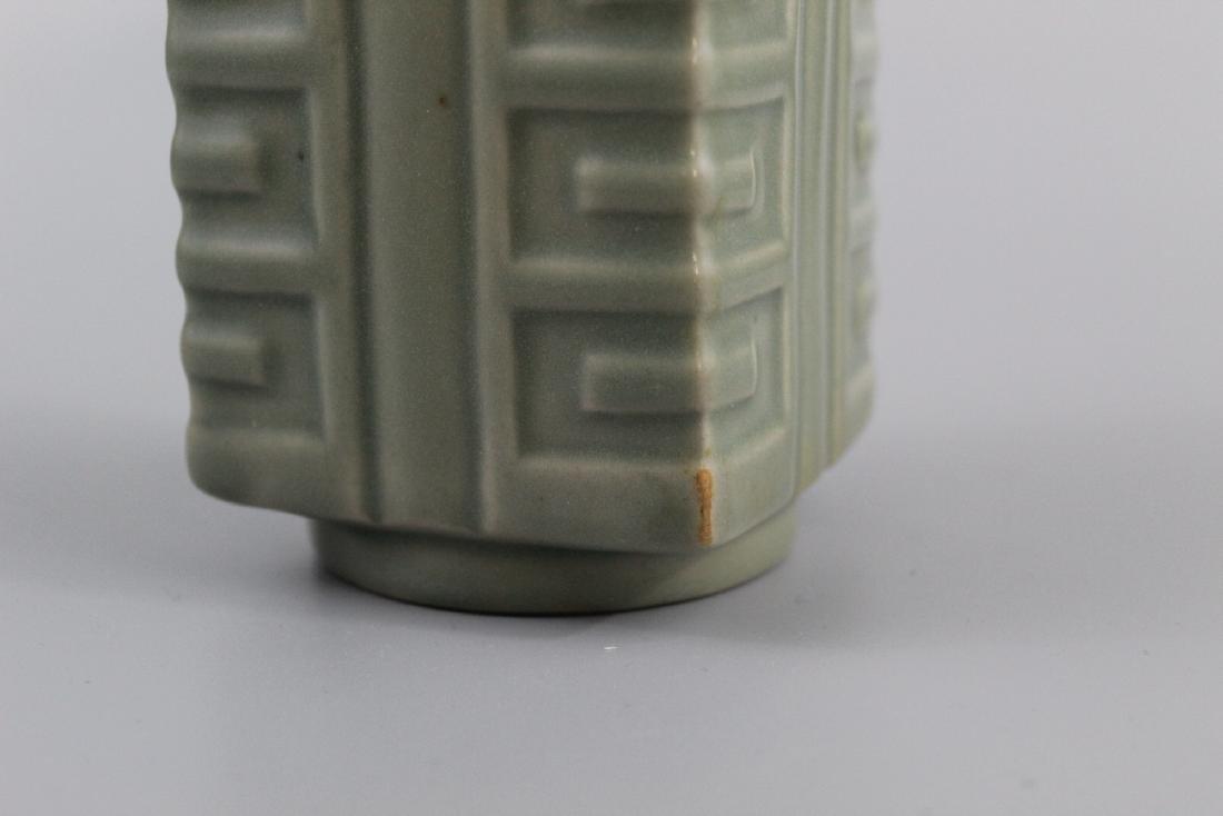Chinese celadon glazed porcelain Vase. - 3