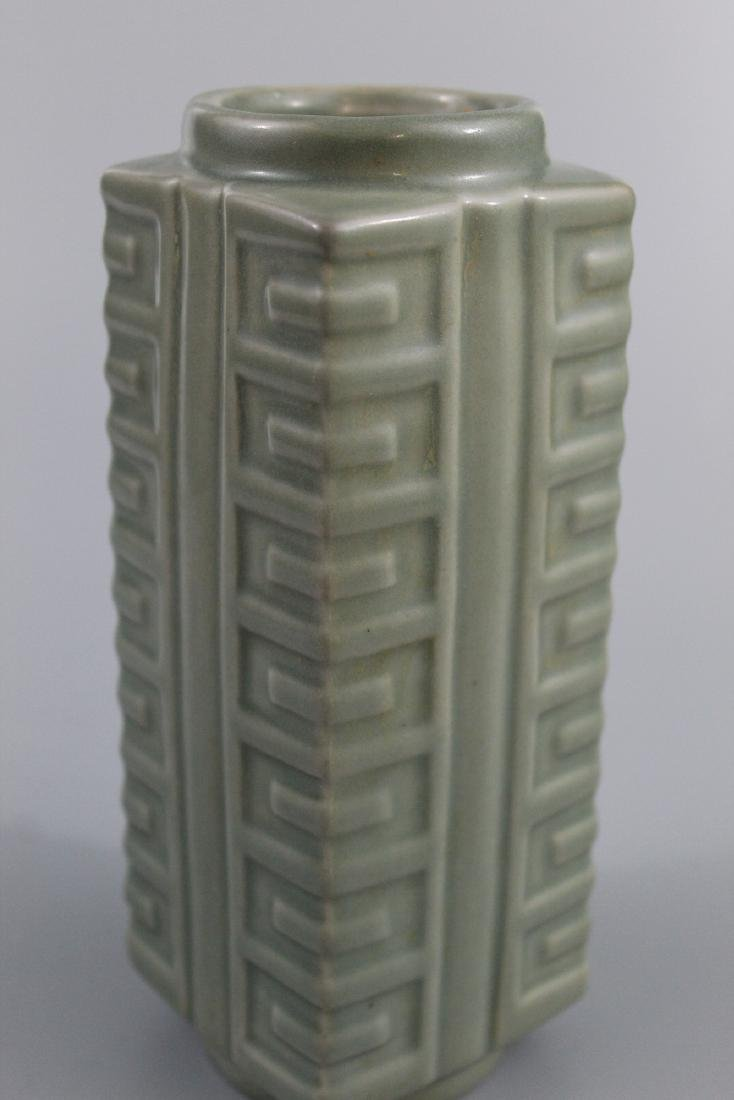 Chinese celadon glazed porcelain Vase. - 5