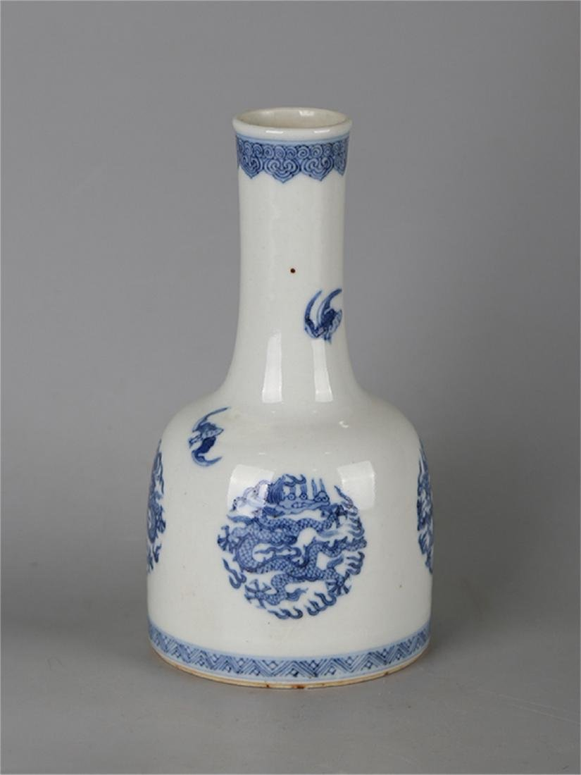 Chinese blue and white porcelain vase, Qianlong mark.