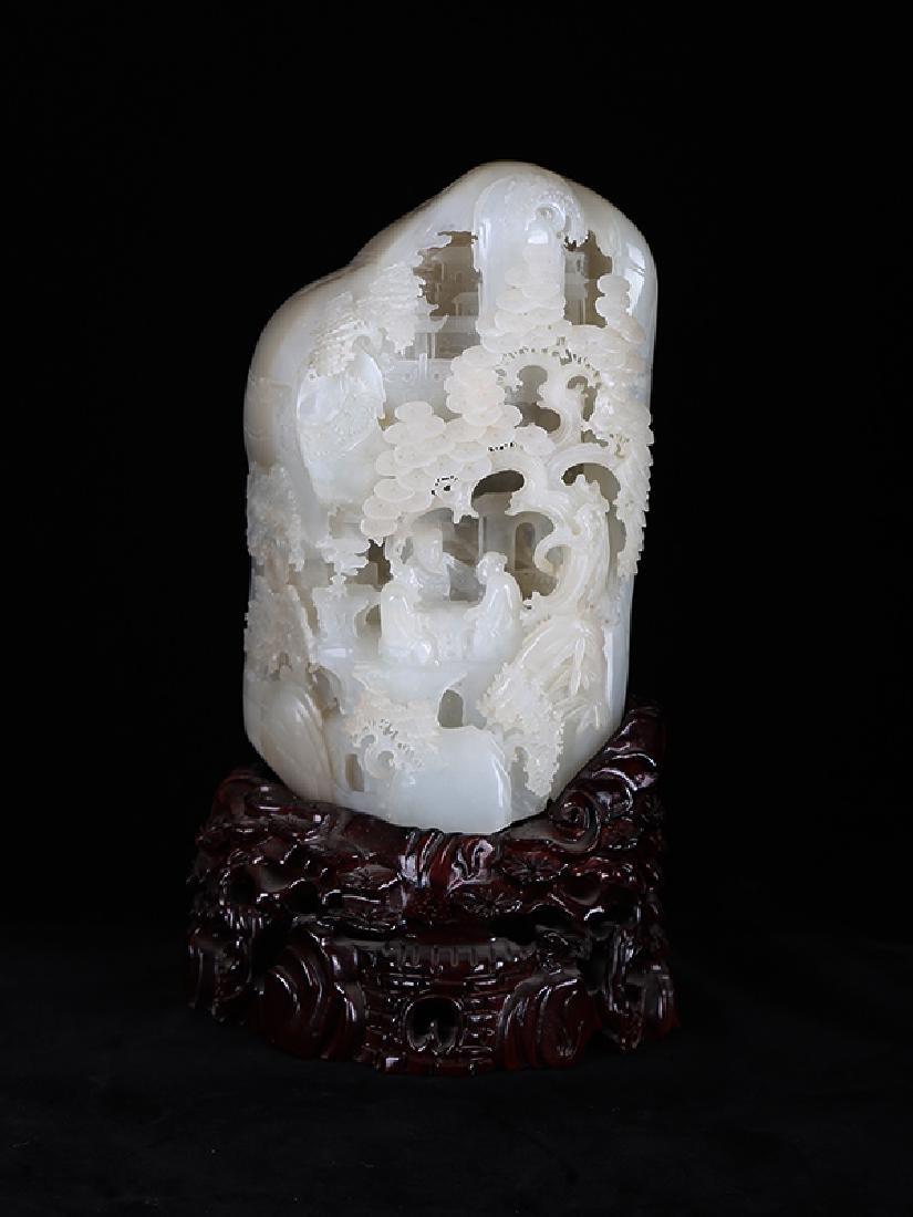 Chinese carved jade boulder.