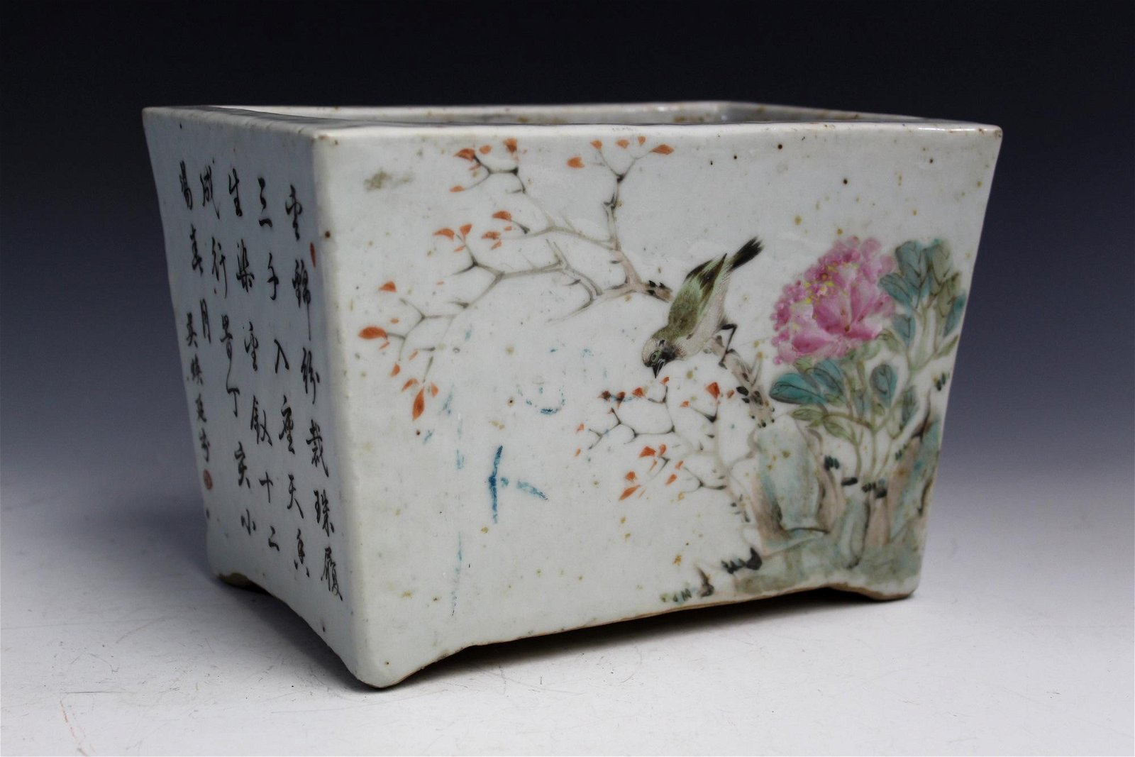 Chinese Antique Famille Rose Porcelain Planter,