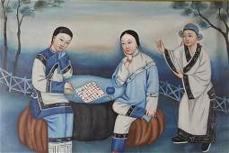 Antique Chinese Oil Painting.