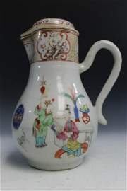 Chinese Export Famille Rose Porcelain Ewer, 18th C.
