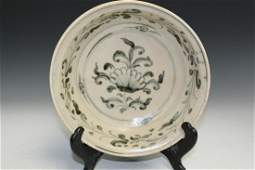 Antique Vietnamese Blue and White Porcelain Bowl.