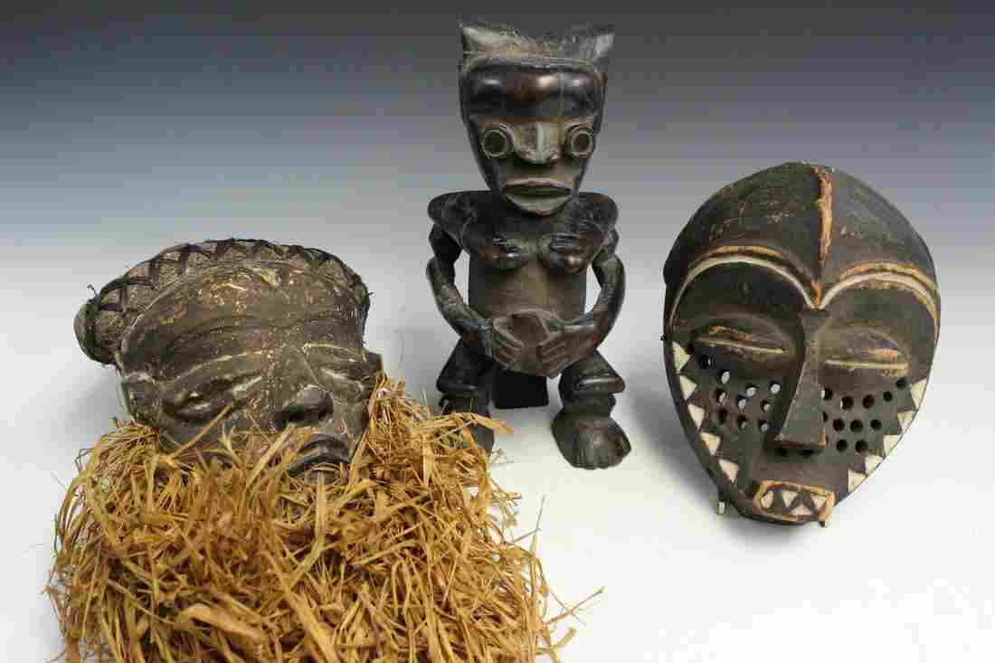 From D.R. Congo 2 Vintage Pende Masks and a