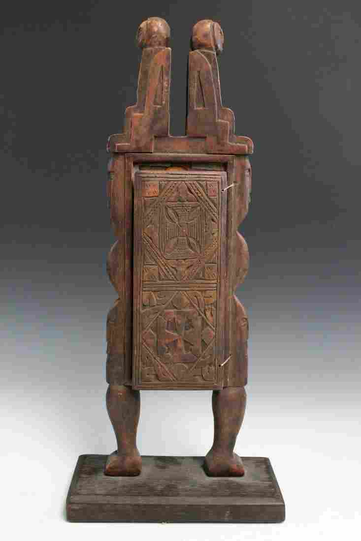 Vintage Coptic Ikon from Ethiopia. Made of Wood, with