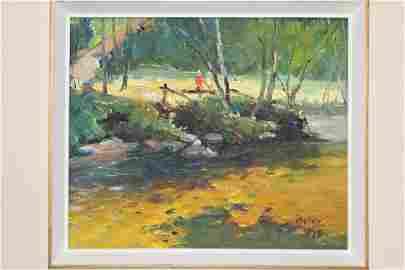 Landscape, Francesco Iacurto (1908-2001) Oil on Canvas