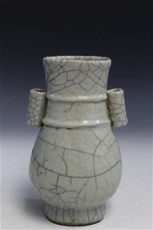 Chinese Crackle Glaze Porcelain Vase