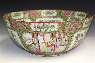Chinese rose medallion punch bowl.