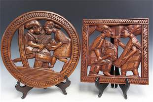 w Yoruba Nigerian Wood Panels.