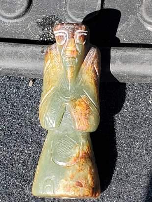Chinese carved jade figurine.