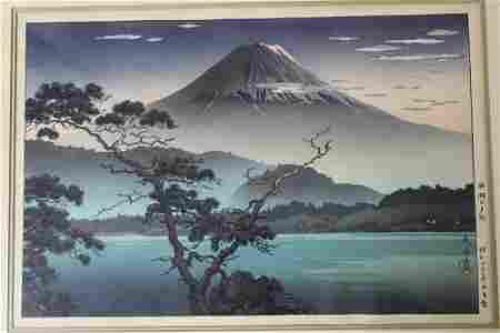 Mt. Fuji From Lake Sai, Tsuchiya Koitsu, Japanese