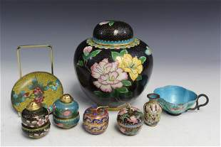 Group of Chinese Cloisonne Items