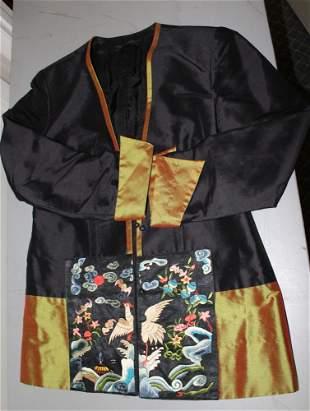 Chinese Black Silk Jacket