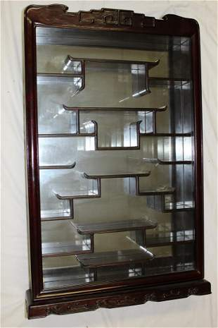 Chinese Rosewood Wall Display Cabinet