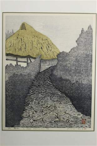 A Deep Silence. Watanabe Yoshiko, Woodblock Print.