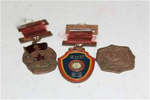 Three Chinese Medals