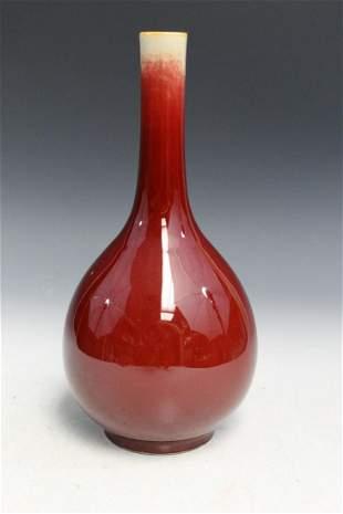 Chinese Ox-blood Glaze Porcelain Vase