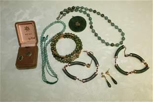 Group of Chinese Jade Jewelry