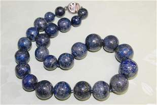 Old Lapis Lazuli Beads Necklace.