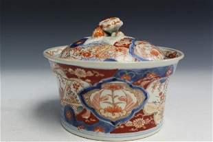 Japanese Imari Porcelain Covered Bowl