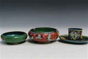 Four Chinese Cloisonne Items