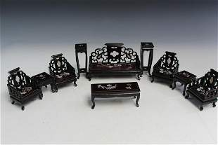 A Set of Miniature Chinese Toy Furnitures.