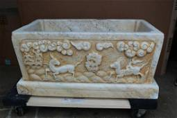 Chinese Carved Marble Trough