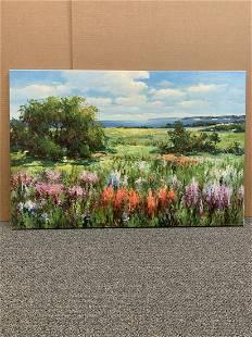 Unframed Sang Lee original oil painting landscape by