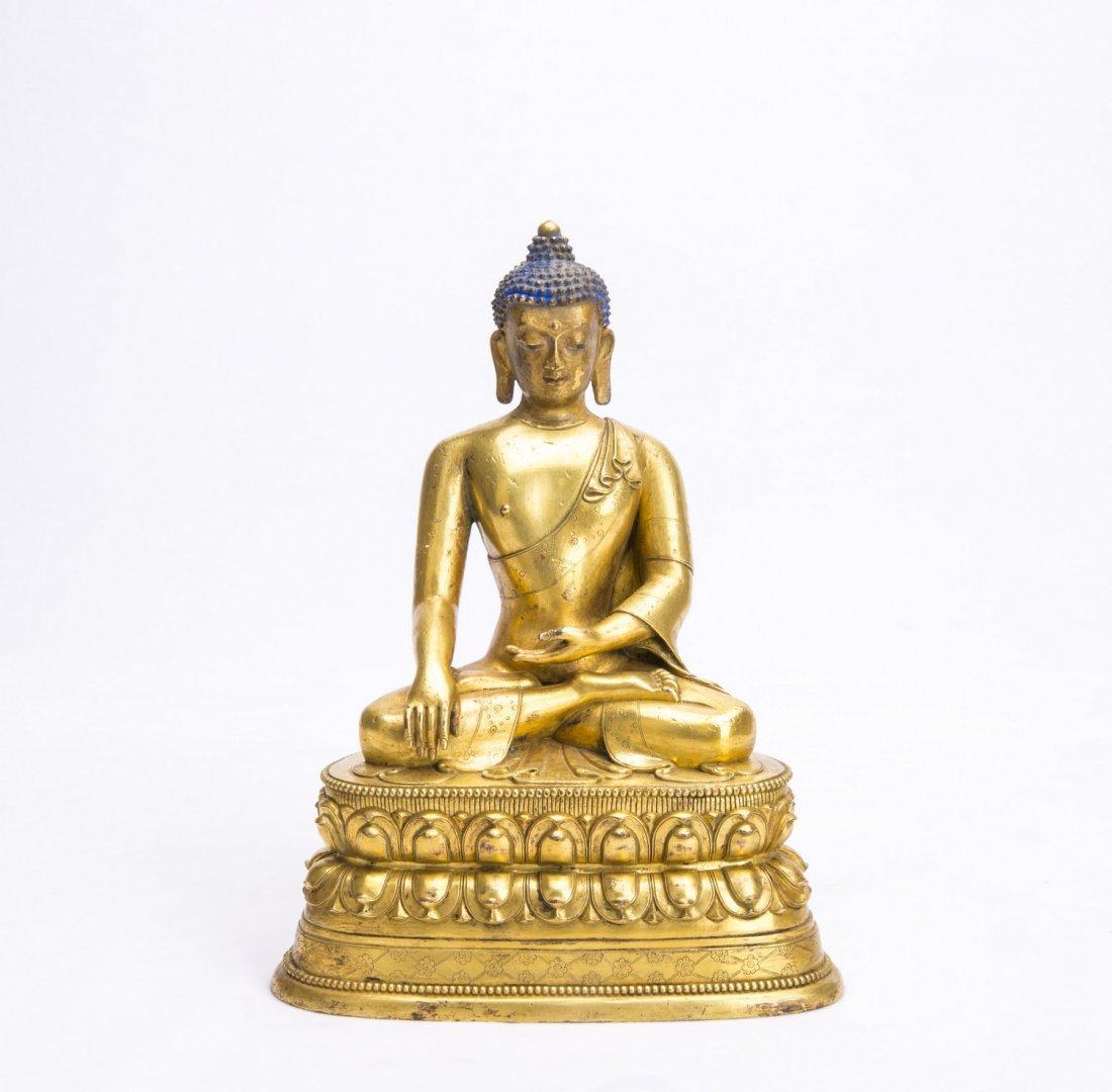 Gilt Bronze Figure of Sakyamuny