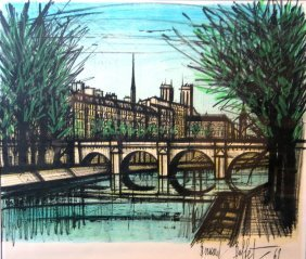 Bernard Buffet Lithograph, Signed In Plate