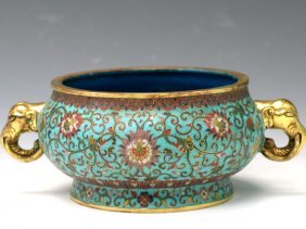 Chinese Cloisonne Censor, 19th Century.