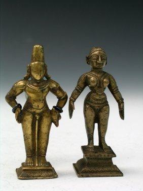 Two Indian Bronze Buddha