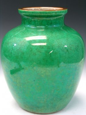 Chinese Green Glaze Porcelain Jar