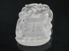 Chinese Rock Crystal Amulet