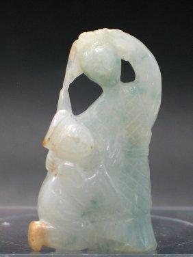 Chinese Jadeite Carving Of Dancing Couple