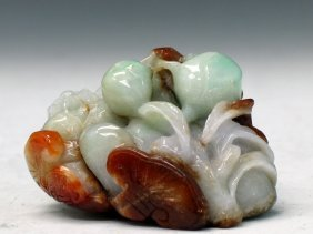 Chinese Natural Jadeite Carving
