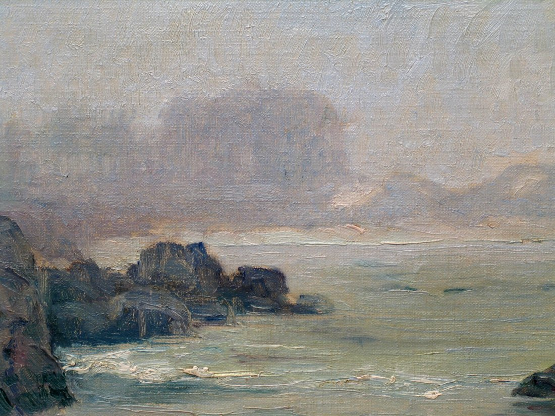 Point Labos Monterey CA Oil on Board, signed lower