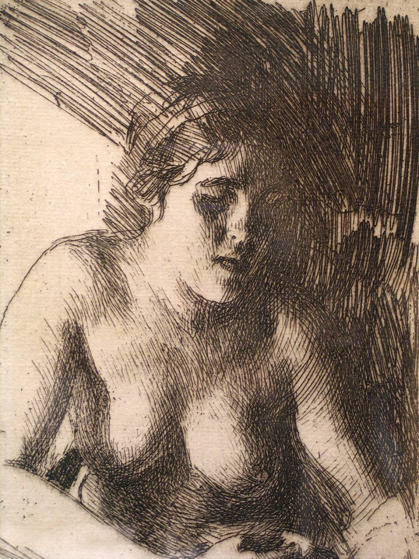 Bust A272 Etching Plate, signed and dated, by Anders